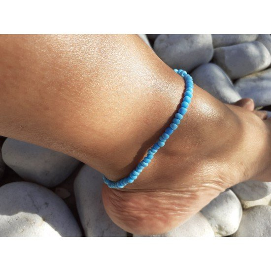 Ankle chain: Pearl blue