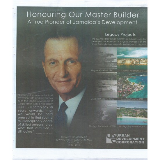 Special Gleaner Supplement, The Most Honourable Edward Seaga O.N.,P.C.