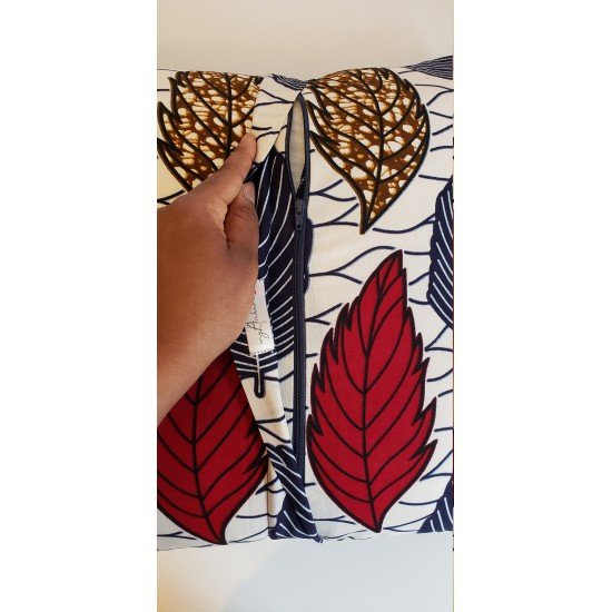African Wax Print Pillow Cover // Decorative Pillow Cover